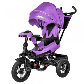 Велосипед трехколесный для детей от 10 месяцев TILLY Impulse T-386/1 с пультом, усиленной рамой (Фиолетовый)