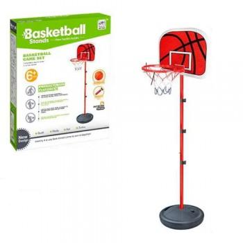 Детское баскетбольное кольцо на стойке 201 см для ребенка MR 0333 с мячом