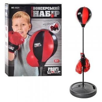 Боксерский набор для детей с грушей на стойке с перчатками MS 0331