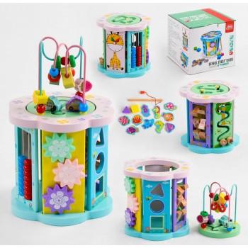 Деревянная, развивающая игрушка, логический игровой центр для ребенка от 18 месяцев 82754