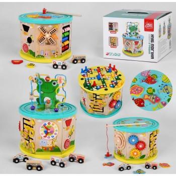 Деревянный, многофункциональный, детский, развивающий логический куб 49679