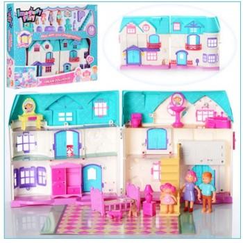 Детский игровой кукольный домик для девочки 1205CD домик для кукол (2 вида)