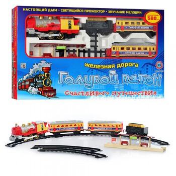 Детская железная дорога Голубой вагон 7015 со звуковыми и световыми эффектами (длина путей 580 см)