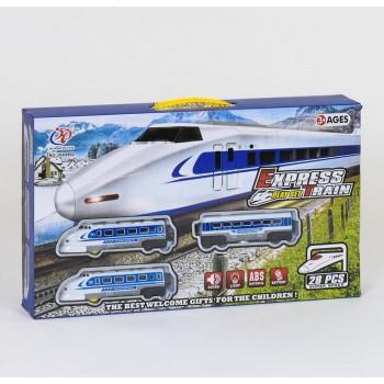 Детская железная дорога JHX 9902 со светящимися фарами и реалистичными звуками (28 элементов)