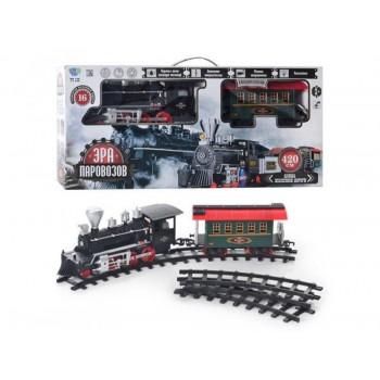 Детская железная дорога Limo Toy TG ЖД 701829 R/YY 125 с длиной пути 420 см, дымом, звуком и светом