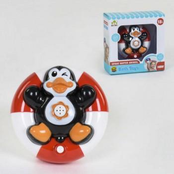 Водоплавающий пингвин, игрушка в ванную для малышей SL 87030 работает от батареек