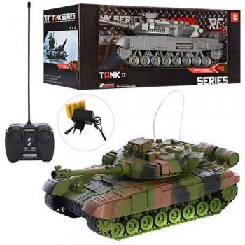Детский игровой танк на радиоуправлении XJ13-A, со световыми и звуковыми эффектами, на аккумуляторе (2 вида)