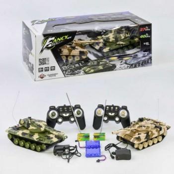 Игровой набор, танковый бой на радиоуправлении НВ-DZ 03, с двумя танками, в масштабе 1:32, на аккумуляторах
