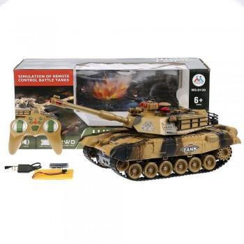Детский боевой танк на радиоуправлении для мальчика 0139 War Tank (2 цвета) с звуковыми и световыми эффектами
