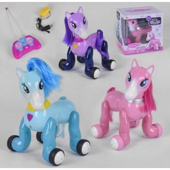 Детская интерактивная игрушка лошадка-пони 1031 A/32A/33A с сенсорным управлением выполняет команды (3 вида)