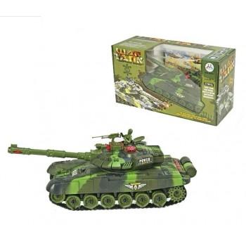 Детский боевой танк на радиоуправлении для мальчика 9993 (S+1+1+2) со звуковыми и световыми эффектами