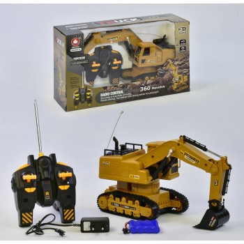 Экскаватор на радиоуправлении ХМ 6811 L аккумулятор 4.8V звуковые эффекты