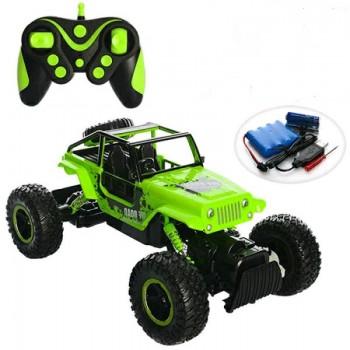 Внедорожник с большими колесами на радиоуправлении Diancheng Toys Rock Crawler 0136 зеленый