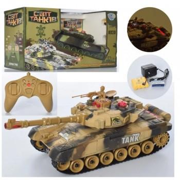 Детский боевой танк на радиоуправлении для мальчика М 5523 (2 цвета) с звуковыми и световыми эффектами