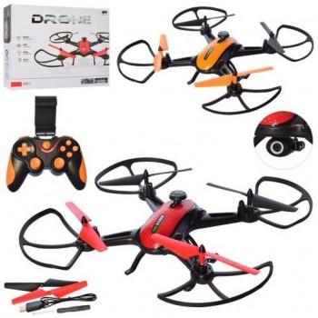 Радиоуправляемый дрон, квадрокоптер HC706, с аккумулятором, камерой, светом, Wi-Fi, USB зарядкой (2 цвета)