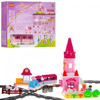 Детский конструктор Limo Toy M 0444 U/R Железная дорога со звуковыми и световыми эффектами (84 детали)