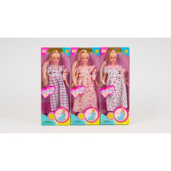 Беременная кукла Defa 6001 с накладным несъемным животиком и малышом в одеяльце, три вида (высота 29 см)