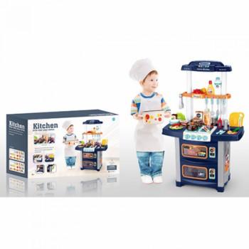 Детская игровая Кухня WD-R38 плита, гриль, вода из крана, посуда, продукты, свет, звук