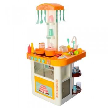 Детская большая игровая кухня с водой 889-60 оранжевая, 40 предметов