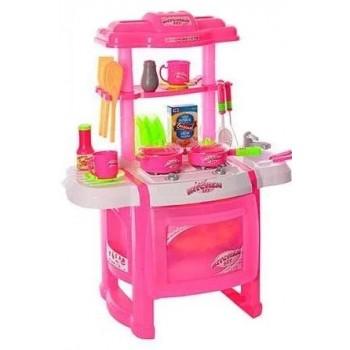 Детская игровая кухня WD-P15 с льющейся водой Розовая