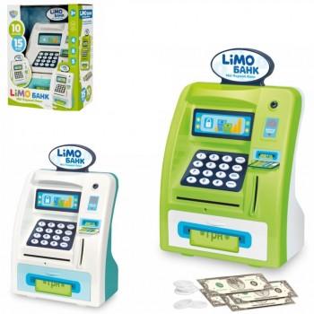Игрушечный банкомат, терминал, копилка со звуковыми и световыми эффектами М 4550, украинский язык (2 вида)
