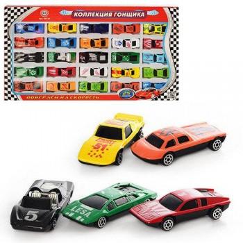 Набор гоночных игрушечных маленьких машин из металла для мальчика МВ 25 №1 927-25 (25 штук)