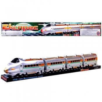 Детская игрушка Паровоз электричка M 0335 U/R длина 70 см со звуковыми эффектами в слюде