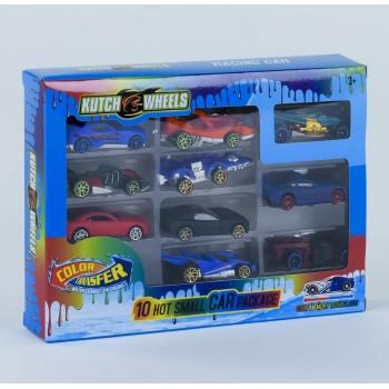 Детский игровой набор гоночных машин для мальчика EBS 868-10 меняют цвет (10 шт.)