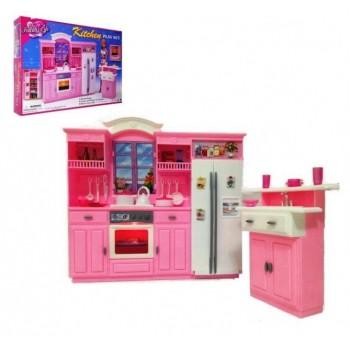 Игрушечный набор мебели для куколок Глория Gloria Кухня 24016, с холодильником, мойкой и плитой