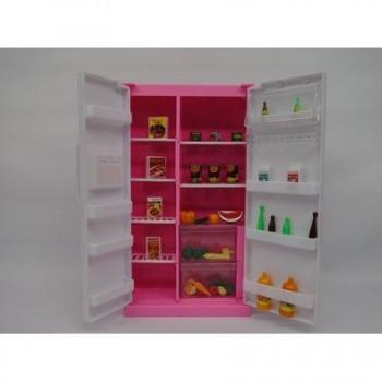 Игрушечный холодильник для куклы Глории высотой 29 см Gloria 94017, с открывающимися дверями