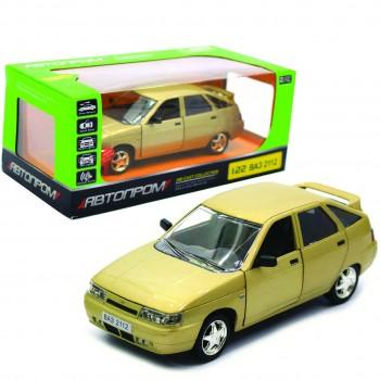 Автомодель металлическая коллекционная Автопром (1:22) ВАЗ-2112 со световыми и звуковыми эффектами (3 цвета)
