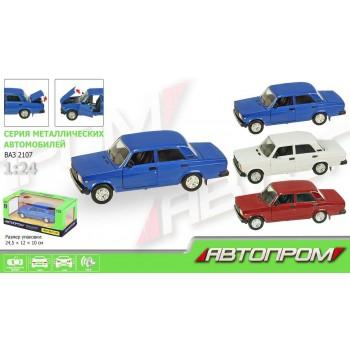 Автомодель металлическая Автопром ВАЗ-2107 (1:22) с световыми и звуковыми эффектами (3 цвета)