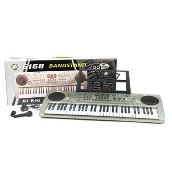Детский орган, синтезатор MQ 6168 для детей от 6-ти лет с микрофоном и LCD-дисплеем (61 клавиша)