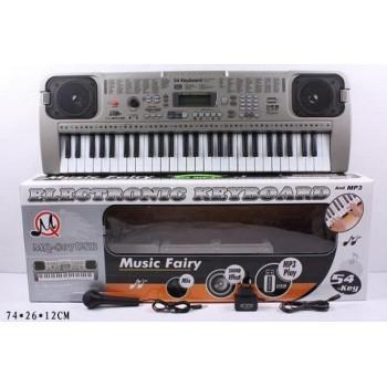Детский синтезатор музыкальный центр для ребенка MQ-807USB с микрофоном