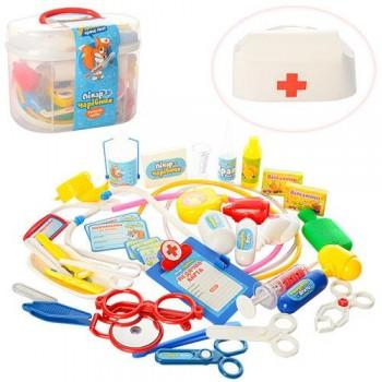 Детский игровой набор доктора в чемодане М 0461 (36 предметов)