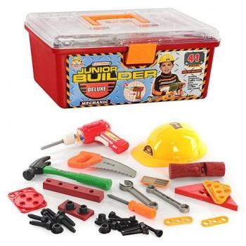 Игровой набор инструментов для мальчика в чемодане 2058 с дрелью на батарейках