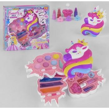 Детская косметика ТК 51483 в коробочке Единорожке с тенями, лаками, заколками и помадами, для девочки