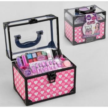 Набор декоративной, гипоаллергенной косметики для девочки в сундучке, тени лаки, помады S 22767