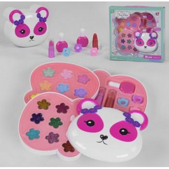 Детская косметика 10395 A в коробочке в виде мишки с тенями, лаками и блесками, для девочки