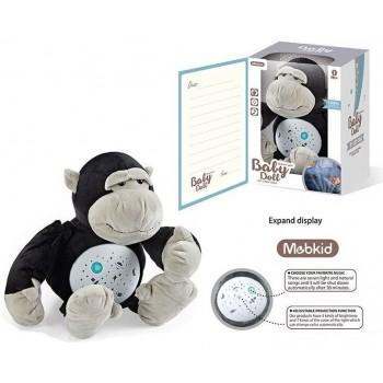 Детский ночник мягкий Горилла MBQ 661-10 A с проектором