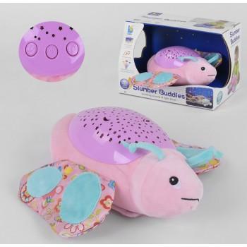Музыкальный ночник-проектор звездного неба для детей с рождения со световыми эффектами JLD 333-29 A