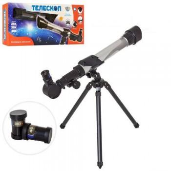 Детский телескоп со штативом, в комплекте три линзы увеличения в 20, 30 и 40 раз, SK 0012