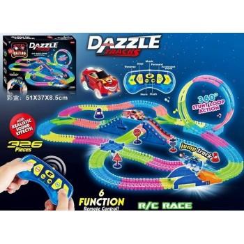 Автотрек с пультом управления Dazzle Tracks 134 (326 деталей)