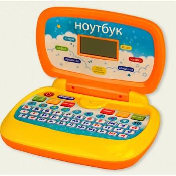 Детский интерактивный компьютер, ноутбук PL-719-50, 6 обучающих функций на украинском языке, музыкальный