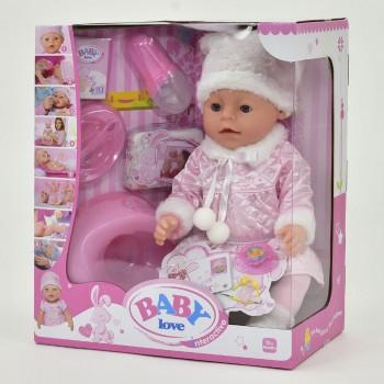 Детская функциональная кукла - пупс Baby Love BL 020 Н имеет 8 функций с аксессуарами