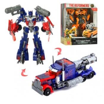 Детский игровой Робот-Трансформер Оптимус и Бамблби, превращаются в машины W 6699-25 (2 вида)