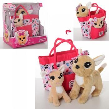 Собачка Кикки в сумочке с щенком, со звуковыми эффектами, поет песенку на украинском языке M 5428 UA