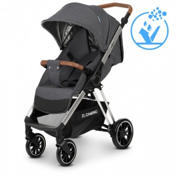 Демисезонная прогулочная коляска для детей от 6-ти месяцев «EL CAMINO» GALLANT ME 1071 V.2 DARK GRAY, Серая
