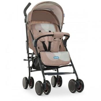 Детская коляска для прогулок с регулировкой спинки и подножки, корзиной «Bambi» M 4244 BEIGE, Бежевая