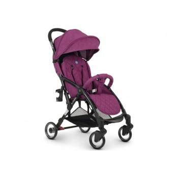 Всесезонная детская коляска-книжка WISH ME 1058 PURPLE с регулируемой спинкой и подстаканником, фиолетовая